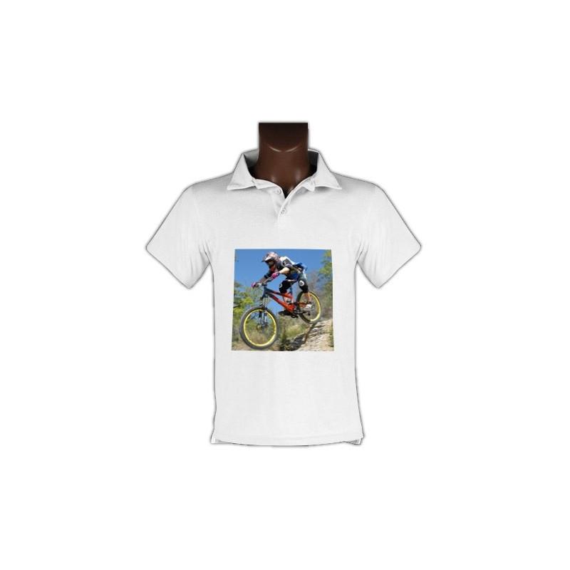 Polo personnalisé blanc homme avec photo
