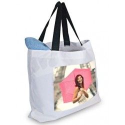 Sac de plage blanc avec photo