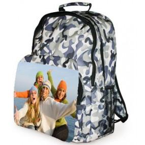 Sac à dos camouflage avec photo imprimée