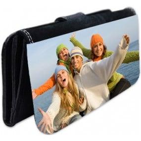 Grand portefeuille noir personnalisé photo