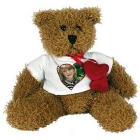 Ours en peluche avec coeur rouge à personnaliser