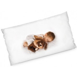 Grand coussin rectangle avec photo