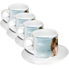 4 tasses à café personnalisées photos