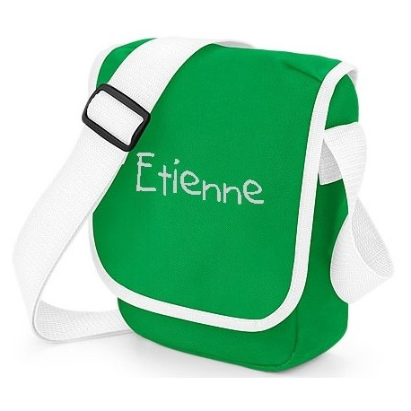 Petit sac brodé vert