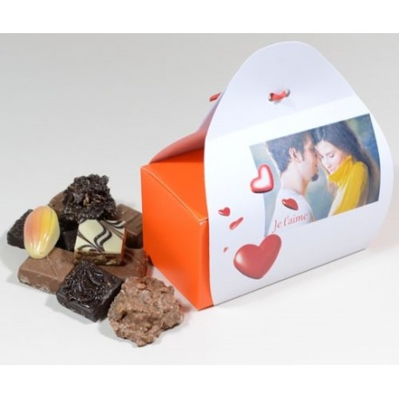 Ballotin chocolat avec coeur