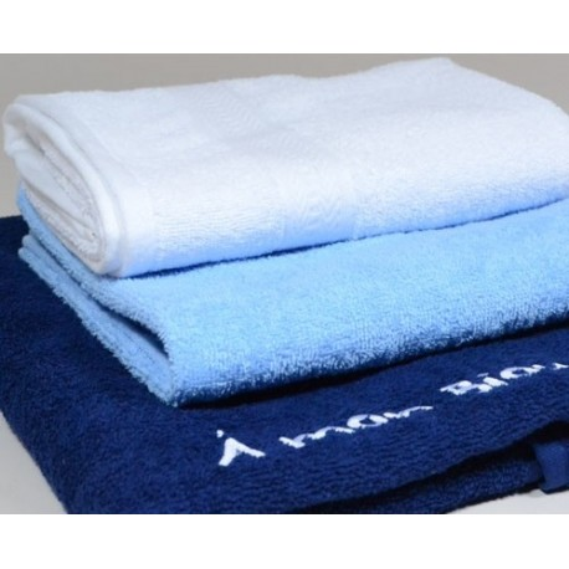 Lot 3 serviettes bain brodé