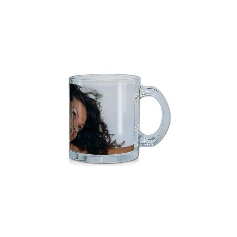 Mug en verre avec photo imprimée