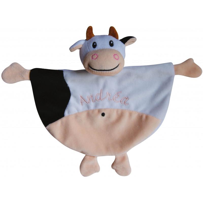 Doudou vache brodé