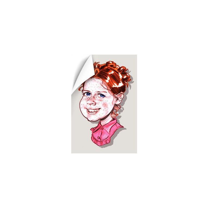 Poster caricature personnalisé en couleur