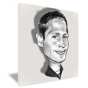 Portrait sur toile caricature