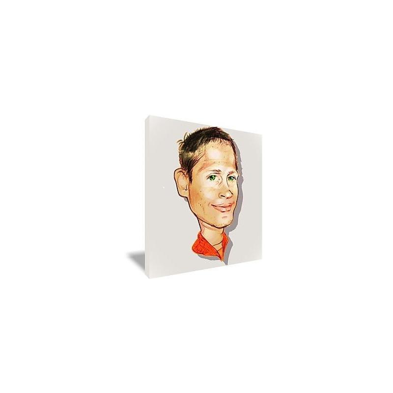 Toile portrait caricature couleur