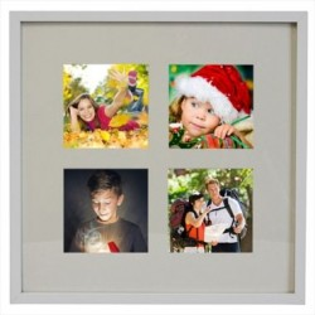 Encadrement 4 photos blanc