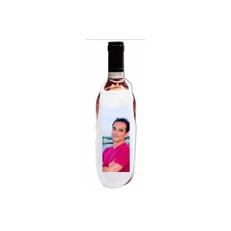 Petit tablier de bouteille avec photo