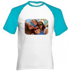 Tee shirt homme manche bleu photo