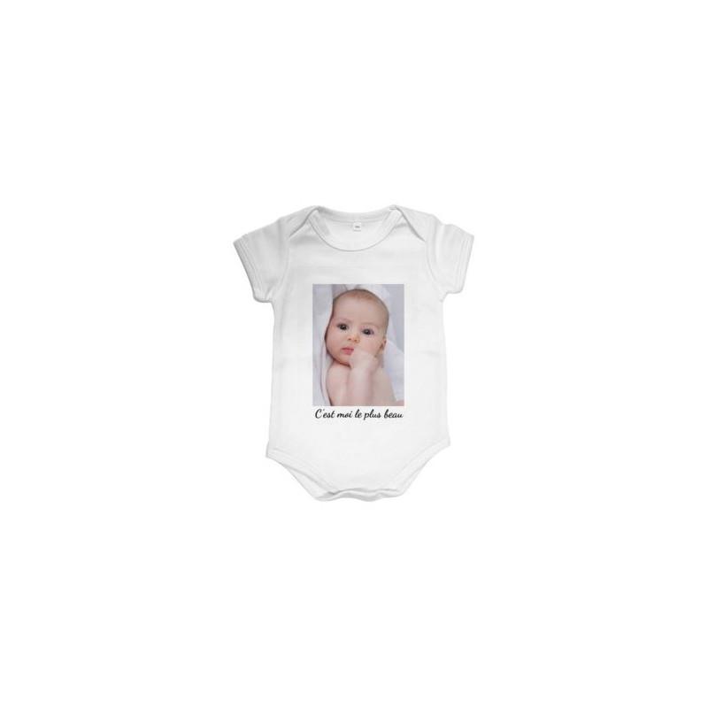 Body court bébé avec photo