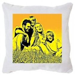 Housse coussin pop art photo