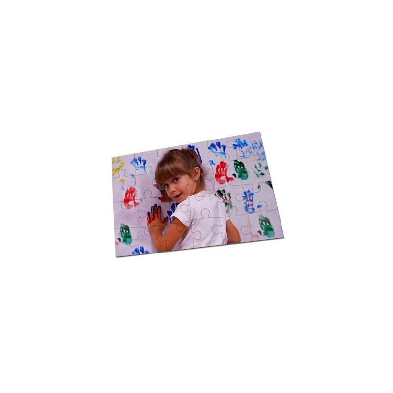 Petit puzzle avec photo imprimée