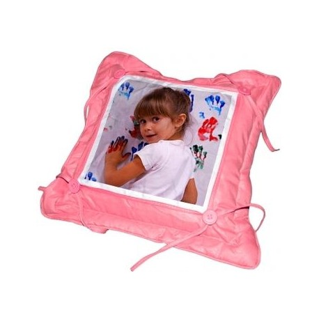 Coussin rose personnalisable