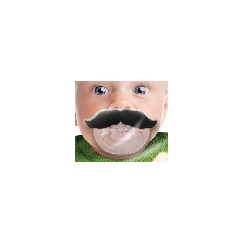 Tétine bébé avec moustache