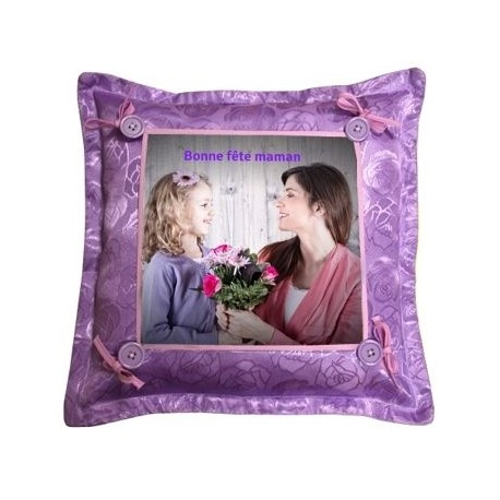 Coussin violet photo