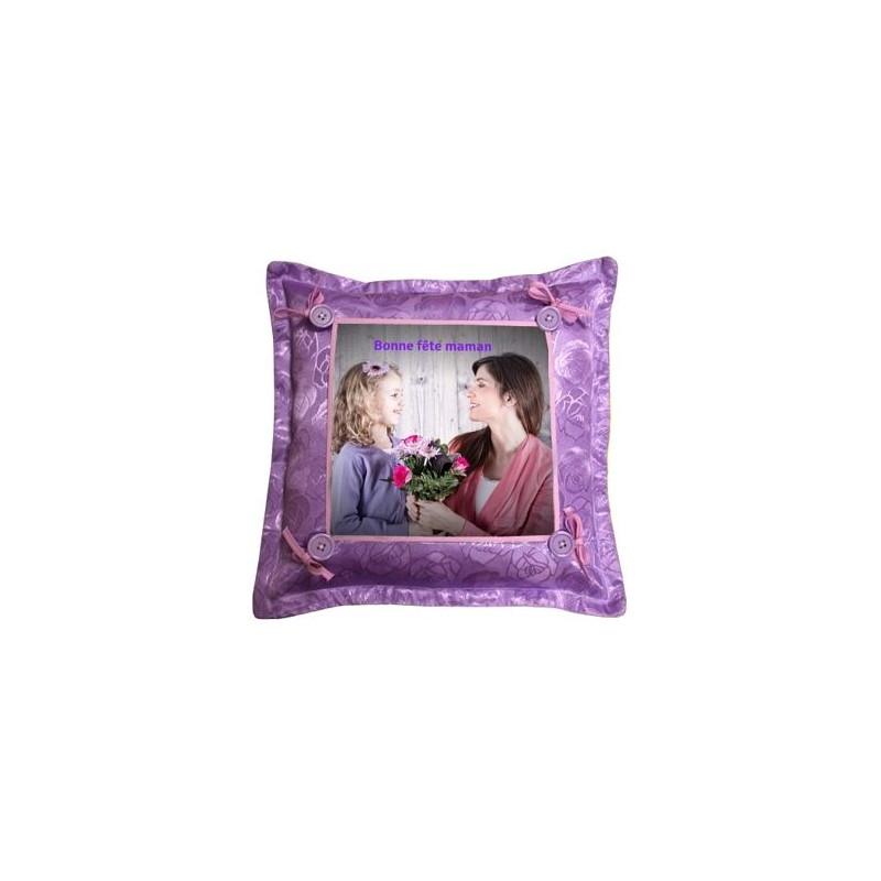 Coussin violet photo