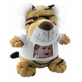 Peluche tigre avec photographie