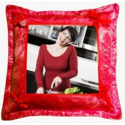 Coussin rouge photo