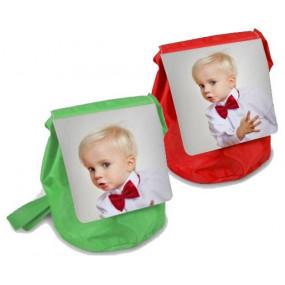 Sac à dos enfant vert et rouge