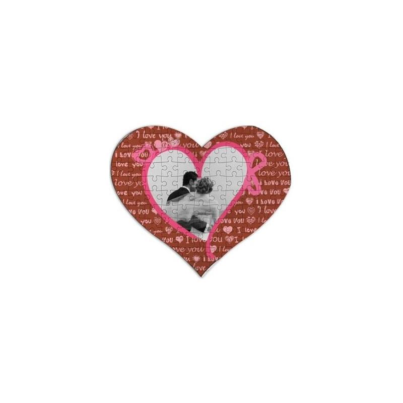 Puzzle coeur décoré photo