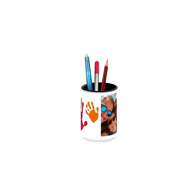 Pot crayons theme famille photo