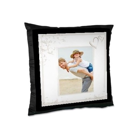 Coussin photo bords noirs