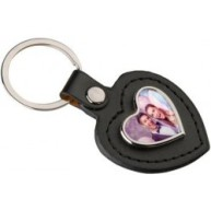 porte clef cuir coeur photo