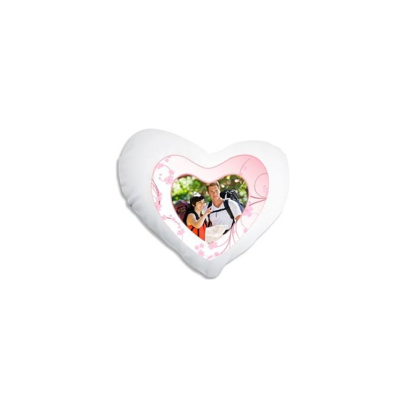 Coussin coeur pour les amoureux