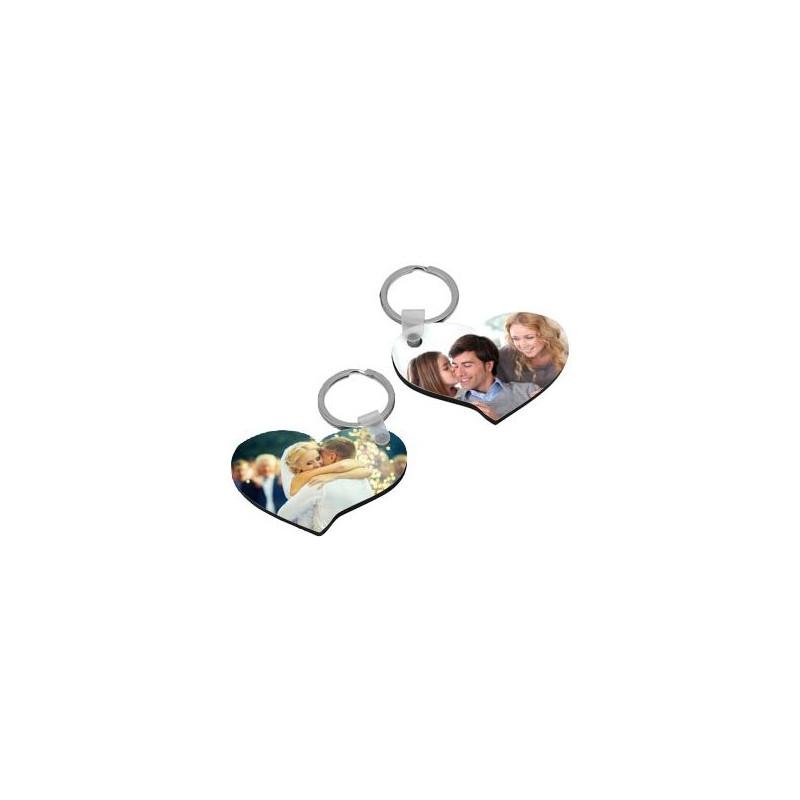 Lot 2 porte clés coeur photos