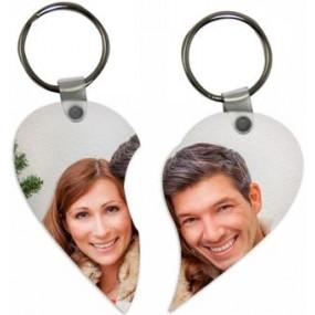 Porte clé coeur séparables