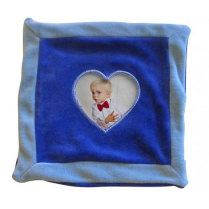 Doudou coeur bleu photo