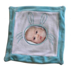 Doudou lapin bleu photo