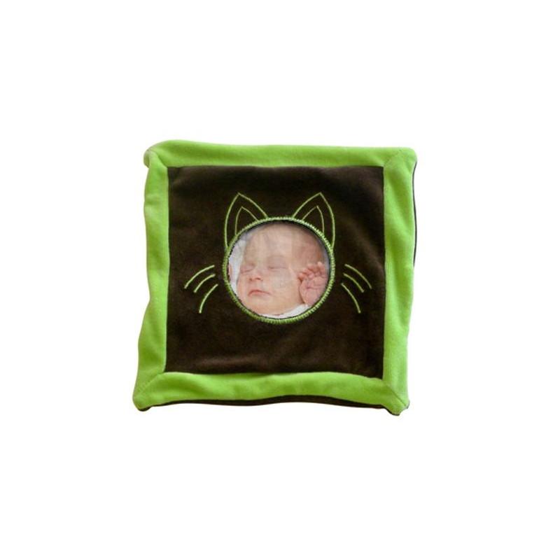 Doudou chat vert et gris photo