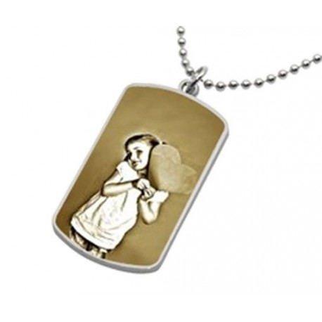 Collier dog tag homme photo