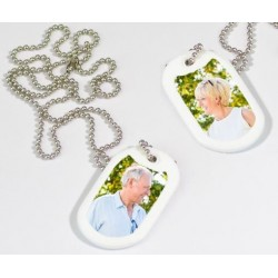 Dog tag blanc photo