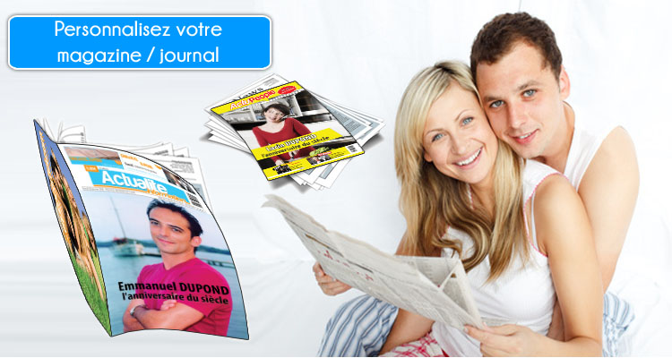 Faux magazine