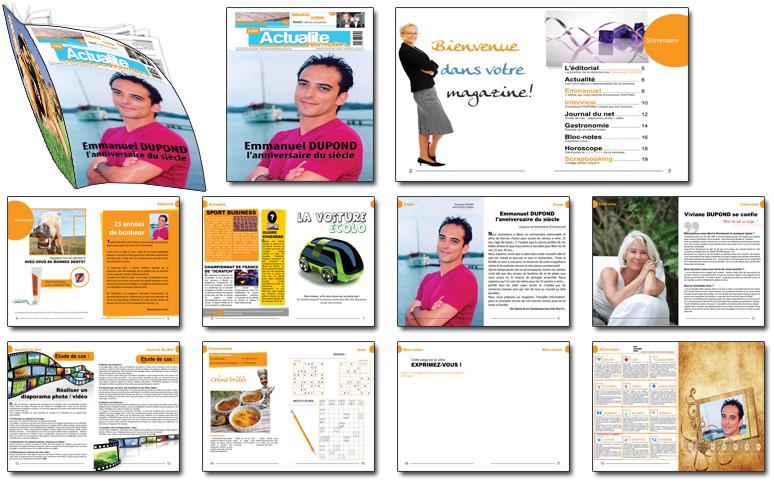 magazine personnalisé actualité