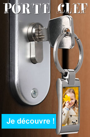 Porte clef avec photo imprimée