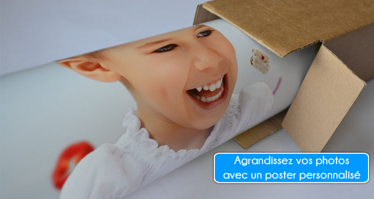 Agrandissement photo sur poster